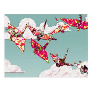 O papel Cranes o cartão