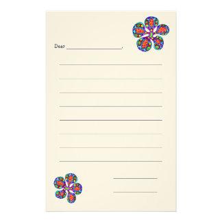 O papel de carta das crianças, flor papelaria