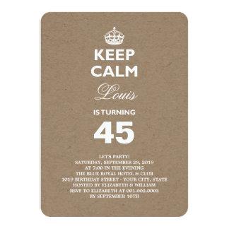 O papel de embalagem Mantem a 50th festa de Convite 11.30 X 15.87cm