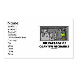 O paradoxo de mecânicos de quantum modelo cartões de visita