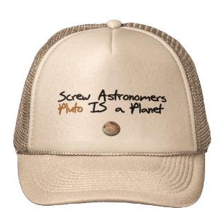O parafuso Astonomers… Pluto é um planeta Boné