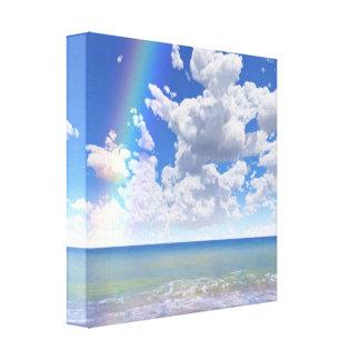 O paraíso azul relaxa a arte moderna da parede impressão em canvas