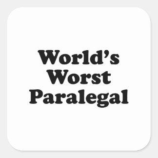 o paralegal o mais mau do mundo adesivo quadrado