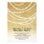 O partido à moda dos Sparkles do brilho do ouro do Convite