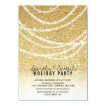 O partido à moda dos Sparkles do brilho do ouro do Convite 11.30 X 15.87cm