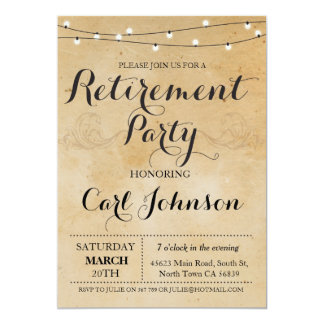 O partido aposentado convite da aposentadoria