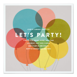 O partido Balloons o convite do aniversário