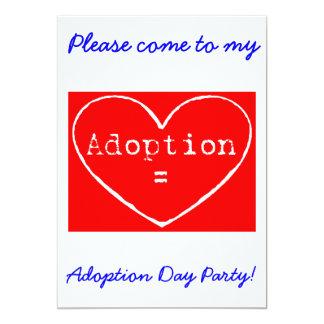 O partido branco do dia da adopção = da adopção do convite 12.7 x 17.78cm