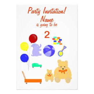 O partido convida a criança dos cartões de RSVP