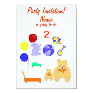 O partido convida a criança dos cartões de RSVP Convite 12.7 X 17.78cm