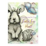 O partido da caça do ovo da páscoa convida convites personalizados