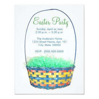 O partido da cesta da páscoa convida convites personalizado