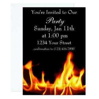 O partido da chama convida o cheio convite 12.7 x 17.78cm