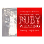 O partido da foto das pedras da faísca do casament convites personalizados