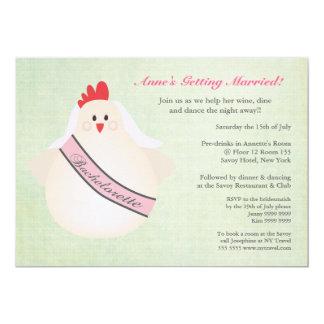 O partido da noite de Bachelorette da galinha Convite 12.7 X 17.78cm