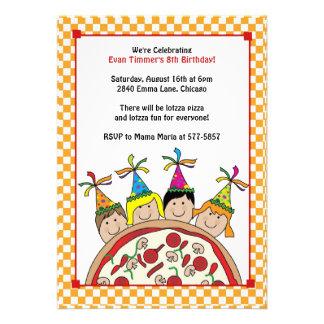 O partido da pizza caçoa convites
