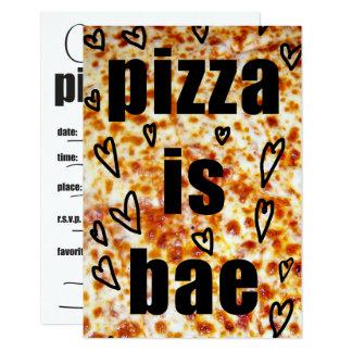 O partido da pizza convida/pizza é BAE convida Convite 8.89 X 12.7cm