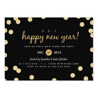 O partido da véspera de ano novo dos confetes do convite 12.7 x 17.78cm