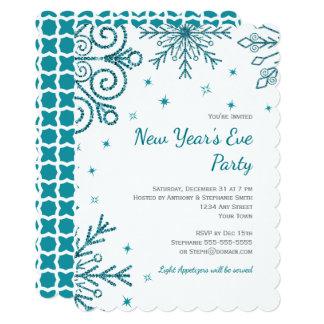 O partido da véspera de Ano Novo dos flocos de Convite 12.7 X 17.78cm