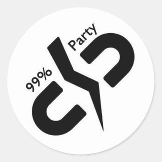 O partido de 99% - etiquetas redondas