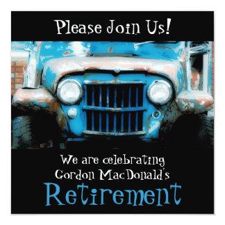 O partido de aposentadoria do carro antigo de convite