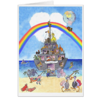 O partido de aterragem II, a arca de Noah Cartão Comemorativo