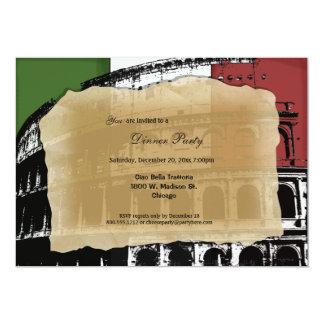 O partido de comensal romano contemporâneo do convite 12.7 x 17.78cm