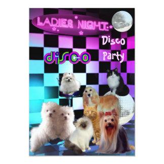 O partido de disco da noite das senhoras do convite 12.7 x 17.78cm