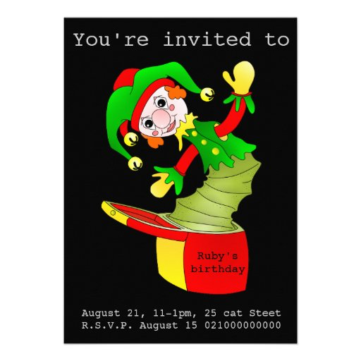O partido de Jack in the Box convida Convite Personalizado