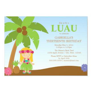O partido de Luau | convida Convite 12.7 X 17.78cm