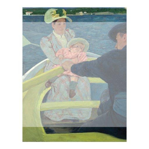 O partido do barco por Mary Cassatt Panfletos Personalizado