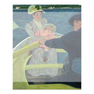 O partido do barco por Mary Cassatt Modelo De Panfleto