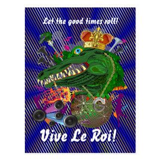 O partido do carnaval vê por favor notas cartao postal