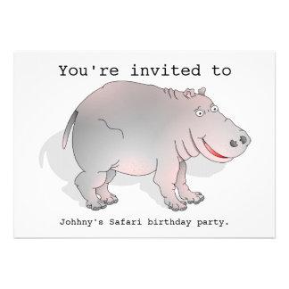 O partido do safari do hipopótamo convida convites