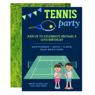 O partido do tênis caçoa o convite do aniversário