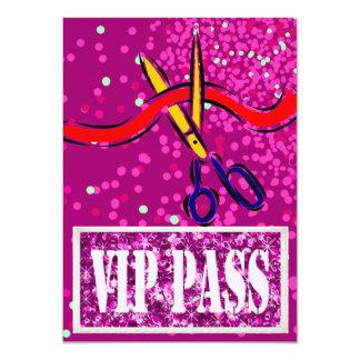 O partido do VIP do rosa do lançamento da grande Convite 11.30 X 15.87cm