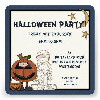 O partido dos monstro 2 o Dia das Bruxas da noite Convite Personalizados