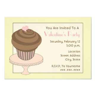 O partido dos namorados convida - o cupcake do convite personalizado