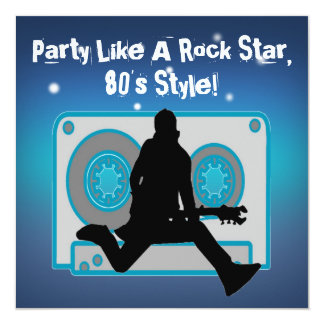 O partido gosta de convites de festas do anos 80