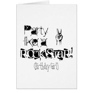 O partido gosta de um cartão de aniversário rockst