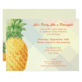 O partido gosta de um cartão do convite do abacaxi