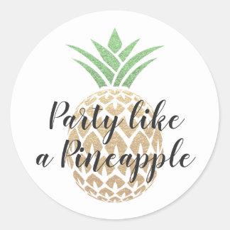 O partido gosta de uma etiqueta do aniversário do