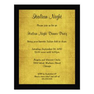 O partido italiano da noite do fundo do arenito co convites