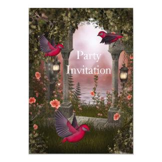O partido livre dos pássaros do convite convida