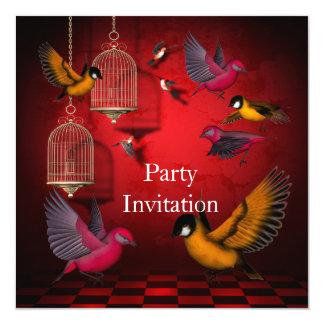 O partido livre dos pássaros do convite convida a