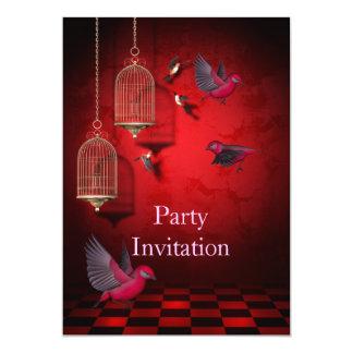 O partido livre dos pássaros do convite convida o