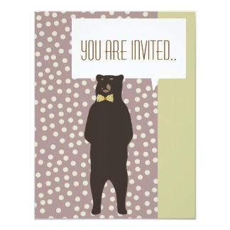 o partido marrom do urso do arco gosta do convite
