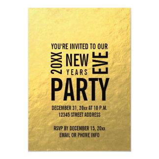 O partido moderno da véspera de ano novo da folha convite 12.7 x 17.78cm