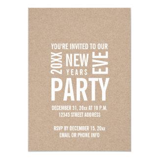 O partido moderno da véspera de ano novo de Kraft Convite 12.7 X 17.78cm
