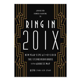 O partido preto da véspera de Ano Novo do ouro do Convite